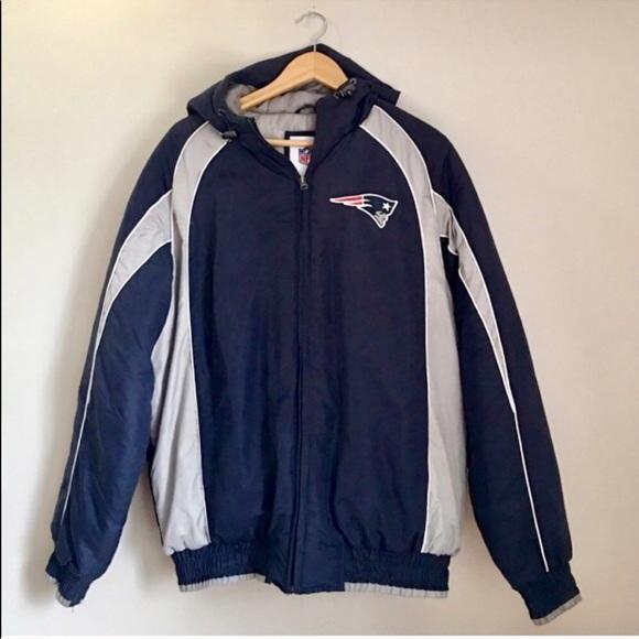 New NFL Jackets & Coats   New England Patriots Hooded Logo Jacket   Poshmark